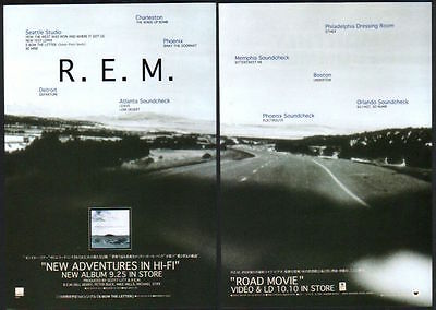 1996 R.E.M. New Adventures In Hi-Fi / Road Movie 2pg JAPAN promo ad /advert r10r