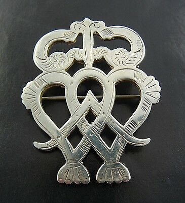 1964 Scottish Ola Gorie Sterling Silver 925 Luckenbooth Brooch Pin
