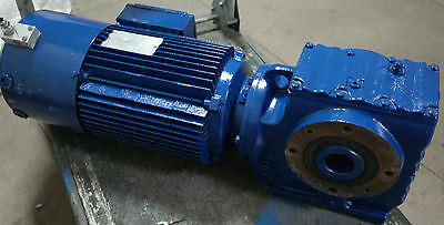 SEW-Eurodrive 3kW Gearbox Electric Motor 140RPM Gear-Motor 3-Phase with Brake