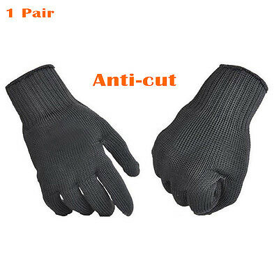 1 Pair Anti-cut Hunting Fishing Gloves Cut Resistant Hand Protective Mesh Gloves