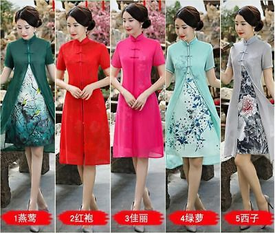 New Hot !Charming Chinese women's Fancy long evening dress Cheongsam Qipao S-XXL