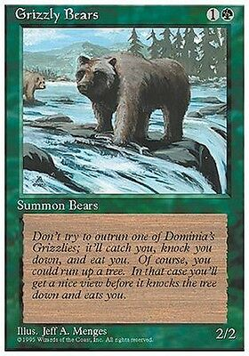 4x Orso Grizzly - Grizzly Bears MTG MAGIC 4E Eng