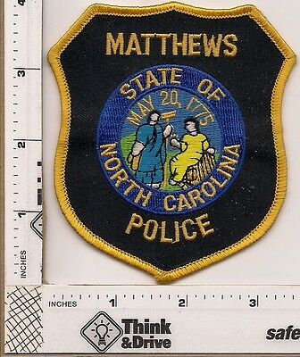 Matthews Police. North Carolina.