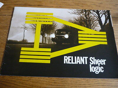 Reliant Regal 3 30 & 21E Saloon,supervan Iii & 21E Saloon Car Brochure 1971 1972