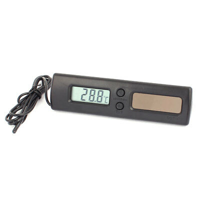 DST-1 LCD Display Waterproof Solar Power Digital Thermometer C/F Black