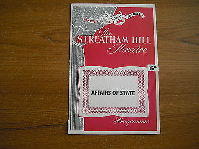 The Streatham Hill Theatre, London - Affairs Of State - 1953