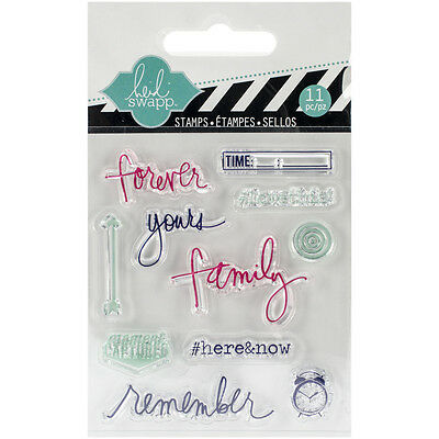 """""""Heidi Swapp Clear Mini Stamps 3""""""""X3.5""""""""-Remember, Set Of 2"""""""