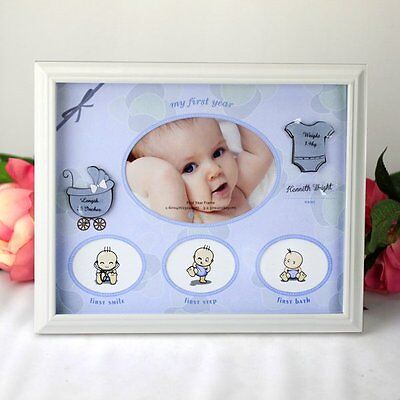 Baby Boy First Year Frame Gift | Newborn | Baby Shower | Keepsake