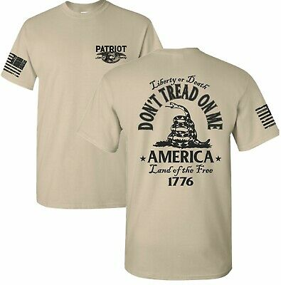 Don't Tread On Me Gadsden Snake Flag Political Tee T-SHIRT Dont USA Patriot