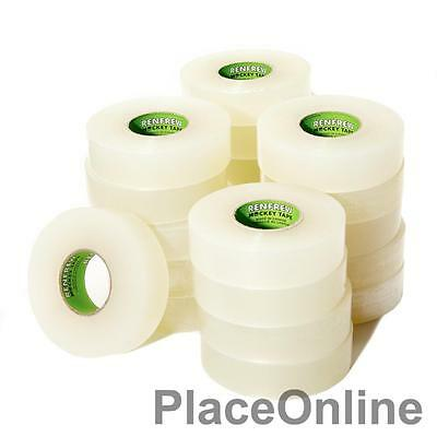 "Renfrew CLEAR Hockey Sock Tape 36 Rolls of 1""X33 Yards NHL Grade Shinpad"