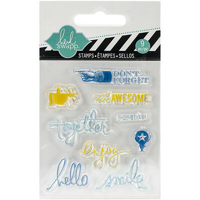 """""""Heidi Swapp Clear Mini Stamps 3""""""""X3.5""""""""-Together, Set Of 2"""""""