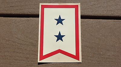 WW2 US Army MILITARY SON IN THE SERVICE FLAG WINDOW DECAL 2 STAR