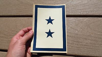 Ww2 Usn Us Navy Military Son In The Service Flag Window Decal 2 Star