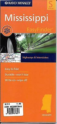 Mississippi State Map, EasyFinder, by Rand McNally