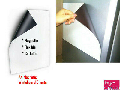 A4 Magnetic Fridge Soft Whiteboard Message Board Home Office Memo YW