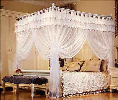 Queen Canopy Bed Curtains violet princess height qc 4 post bed curtain canopy mosquito