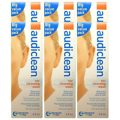 Audiclean 115ml Ear Cleaning Wash - 6 Pack