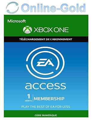 EA Access Xbox One 1 Mois Abonnement Clé - ORIGIN Membership Carte - [EU][FR]