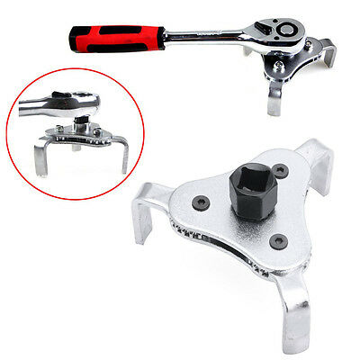 Universal Car Tool 3 Jaws 2 Ways Oil Filter Wrench  Adjustable Spanner Remover