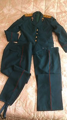 Nos Russian Soviet Parade Uniform Captain Road Troops Jacket Pants Breeches Army