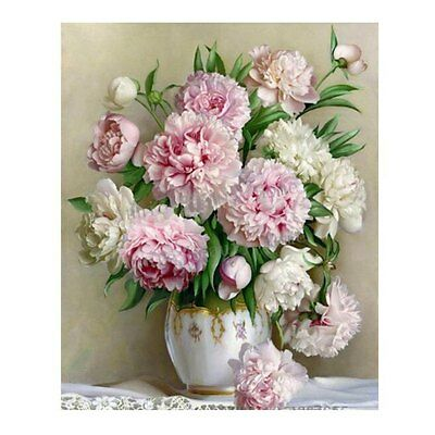 5D DIY Diamond Flower Embroidery Painting Cross Stitch Kit Home Wall Decoration