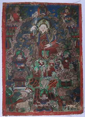 Antique Thangka 19. Ct Fine Painting