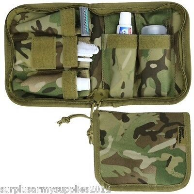 Complete Camping Wash Kit Mirror Shaving Tootbrush Mtp Camouflage Pouch
