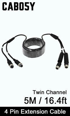 Easy-Fit (4 pin connector) 5M Extension Cable Wire for Reversing Camera