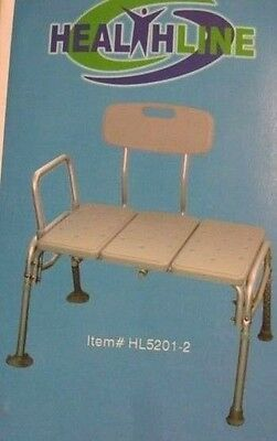 Transfer Bench Adjustable Height, Lightweight with Back Non-slip (M877)
