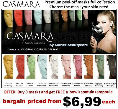 CASMARA masks FULL Collection-CHOOSE ANY Luxury peel off mask you may need