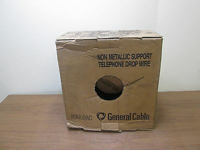 400' General Cable Non Metallic Telephone Drop Wire 6/22 ASW 6TPR 2090018 NEW
