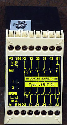 1 New Jokab Safety Jsr1T-0S Safety Expansion Relay ***make Offer***