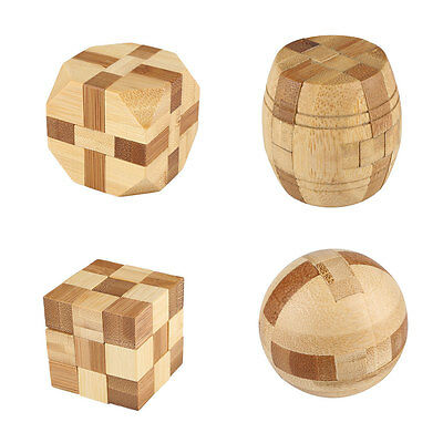 Intellectual Bamboo IQ Puzzle Kong Ming/Luban Lock Brain Teaser Education Game
