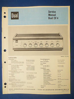 Dual Cv4 Integrated Amplifier Service Manual Original Factory Issue English