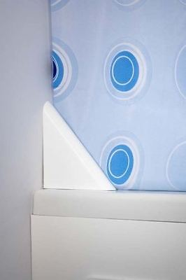 CROYDEX BATHROOM WHITE MAGNETIC CORNER SHOWER CURTAIN CLIP 125mm - NO MORE DRIPS