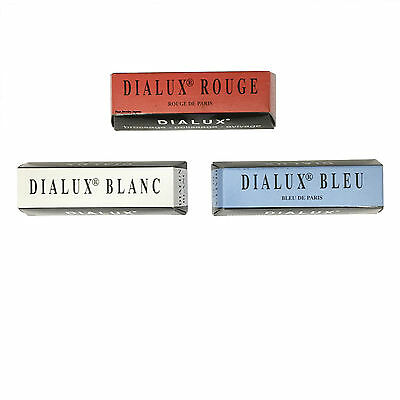 Dialux Polishing Compound Jewelers Rouge RED WHITE BLUE for Gold & Silver 3 Bars