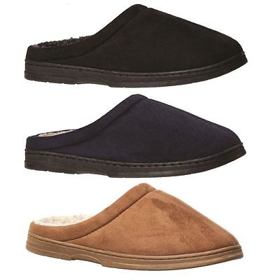 Mens Slippers Grosby Tobias BLACK NAVY CAMEL Slipper Scuffs Woolly Size S M L XL