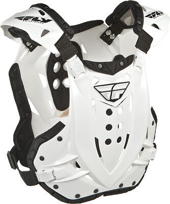Fly Racing ADULT Chest Roost Protector Stingray Deflector Guard White 36-16014