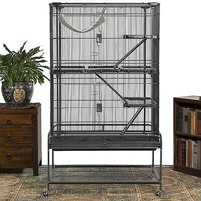 Large 162cm Corner Parrot Aviary Bird Cage With Wheels