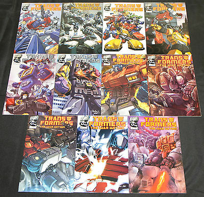 Modern DW TRANSFORMERS 11pc High Grade Comic Lot Generation 1 & The War Within