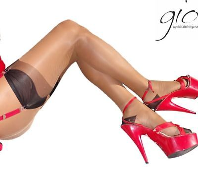 GIO Full Contrast Bicolor non-stretch RHT Stockings Nylons Hosiery 15 Denier