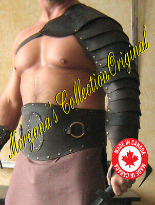 Medieval Gladiator Single Leather Arm Armor