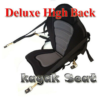 Deluxe Adjustable High Back Fishing Kayak Seat Canoe Padded Seat With Backrest