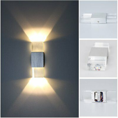 Modern 6W LED Wall Light Up Down Lamp Sconce Spot Lighting Fixture Home Hotel BD