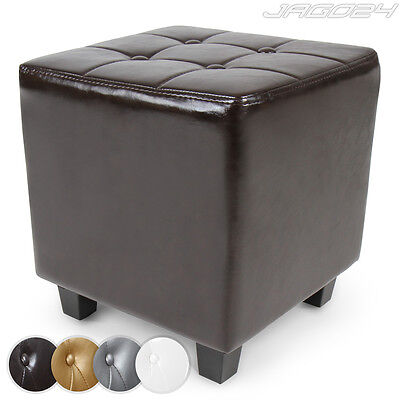 Chesterfield Stool Multi Functional Footstool Seating Cube Bench Pouffe Padded