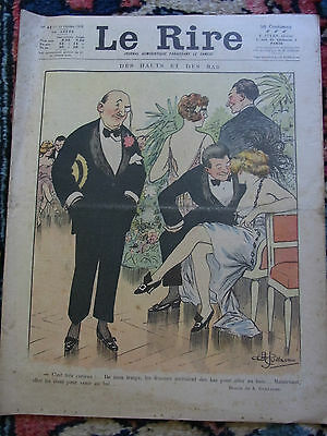 LE RIRE N°44 1er novembr 1919 couv A. FAIVRE& M. CAPY Old french lampoon paper