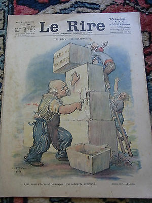 LE RIRE N°275 10 mai 1924 couv LEANDRE & VADASZ Old french lampoon paper