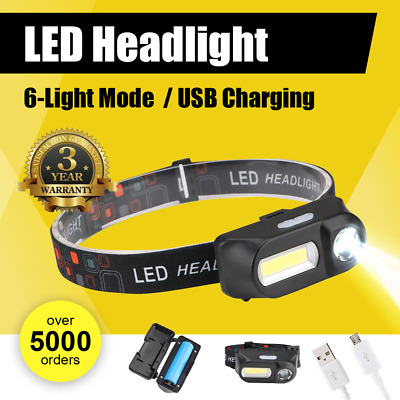 35000LM Zoomable LED Headlamp Rechargeable Headlight CREE XML T6 Head Torch