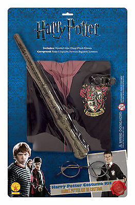 Harry Potter Robe Wand And Glasses Wizard Robe Book Week Child Novelty Fancy Dre