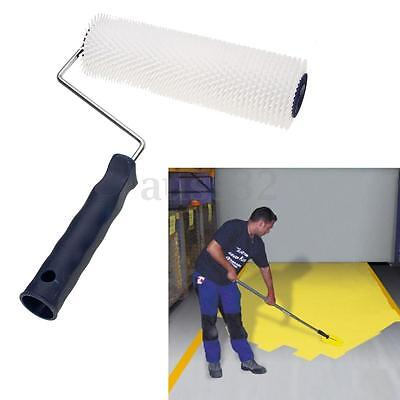 White Spiked Aeration Latex Flooring Screed Levelling Compound Roller Plastic